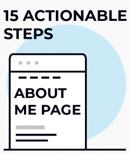 15 actionable about me page steps