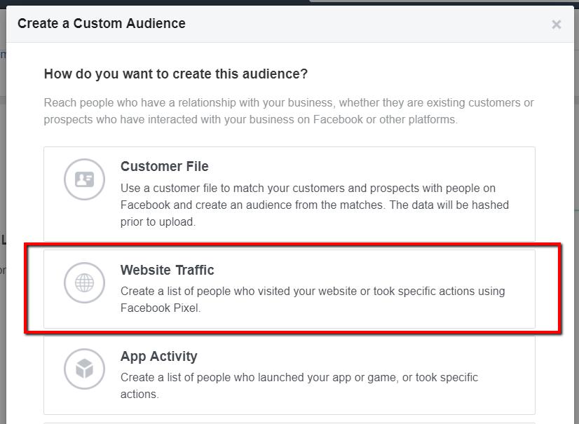 custom audience website traffic